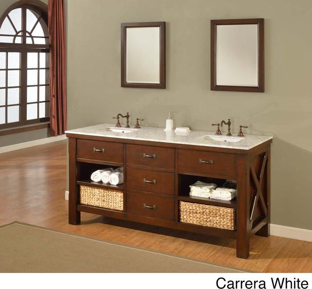 70inch Espresso Extraordinary Spa Double Vanity Sink