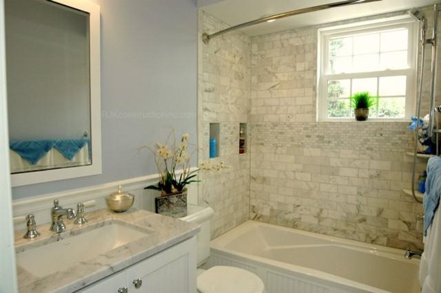 Cape Cod Chic Bathroom  Traditional  Bathroom  dc metro  by RJK Construction Inc