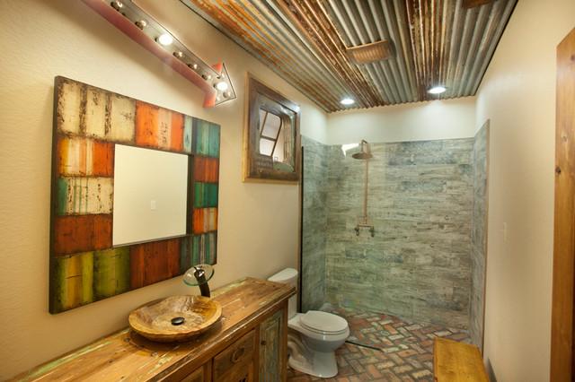 Reclaimed Rustic Bathroom Rustic Bathroom Dallas