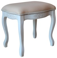 Upholstered Vanity Stool - Traditional - Vanity Stools And ...