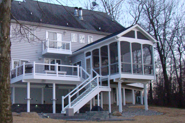 Deck with Screened Enclosure  Traditional  Deck  other