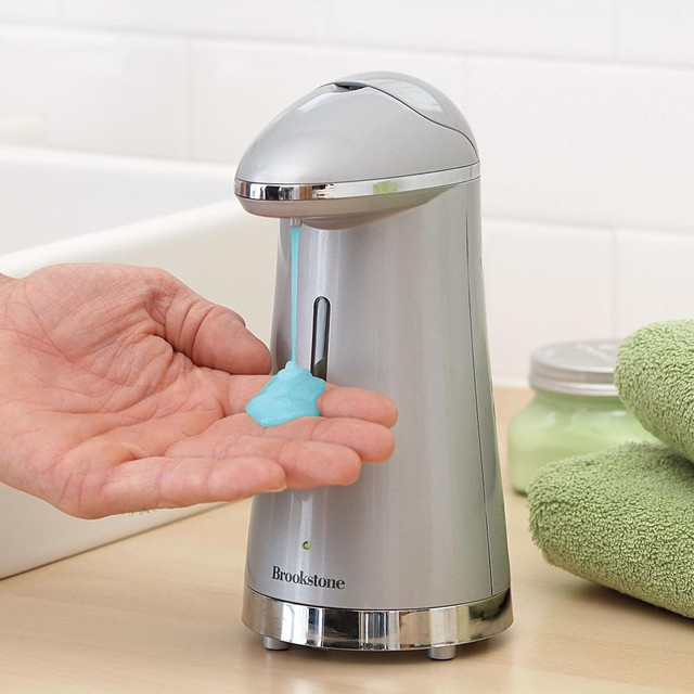 Hands Free Soap Dispenser  Contemporary  Bathroom Accessories  by Brookstone