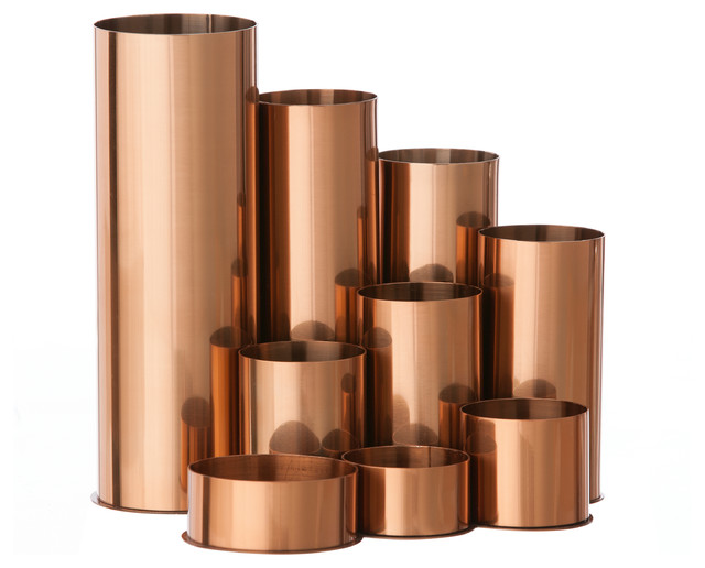 Copper Pencil Holder  Contemporary  Desk Accessories