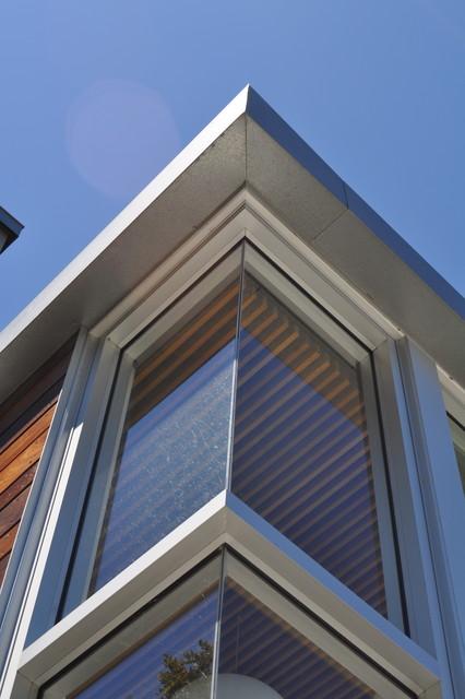 modern window treatments for living room sofa design ideas glass enclosure open corner detail - bonelli