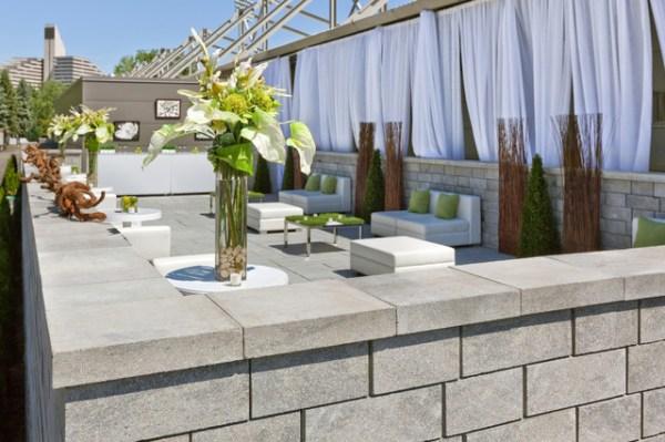 retaining walls - modern landscaping