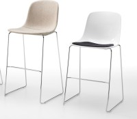 Modern minimalist stacking bar stool Pure Loop by Infiniti