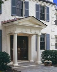 Front Door Pillars - Traditional - Exterior - dc metro ...
