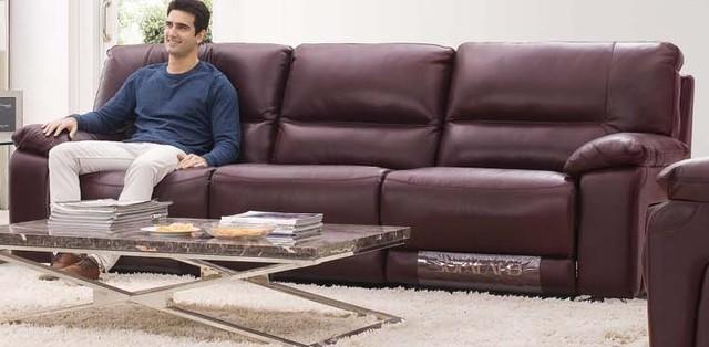Donatella Italian Leather Reclining Sofa