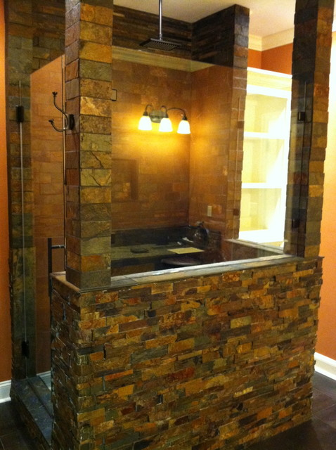 Man Cave Shower Remodel  Mediterranean  Bathroom  other metro  by jKing Enterprises LLC