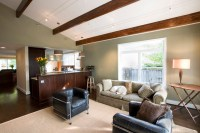 Vaulted Ceiling in the Great Room - Contemporary - Family ...