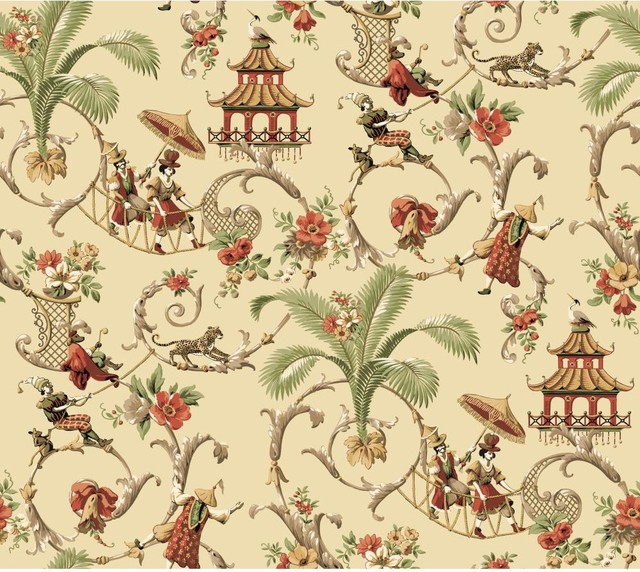 Cute Equestrian Wallpapers Waverly Wallpaper Mandarin Prose Oriental Asian Toile