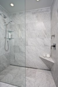 Curbless Shower With Channel Drain - Contemporary ...