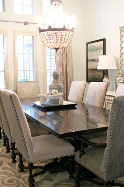 Formal Living and Dining Fresh Design  Transitional  Dining Room  dallas  by Traci Connell