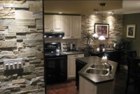Open Kitchen with Natural Stone