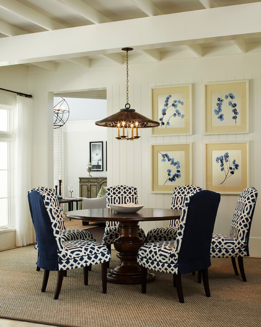 reupholster dining chair dallas cowboy indian harbor residence - traditional room other metro by l k defrances & associates