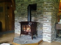Gas Stove Install, replace wood stove - Traditional ...