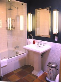 Subway and Saltillo Tile Bath Remodel - Traditional ...