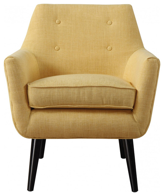 TOV Furniture Clyde Mustard Yellow Linen Chair TOVA38Y
