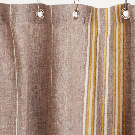 rustic linen shower curtain toast w mustard