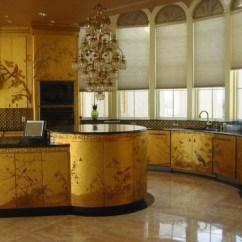 Gold Kitchen Penny Tile Backsplash Glam It Up Kitchens Abode