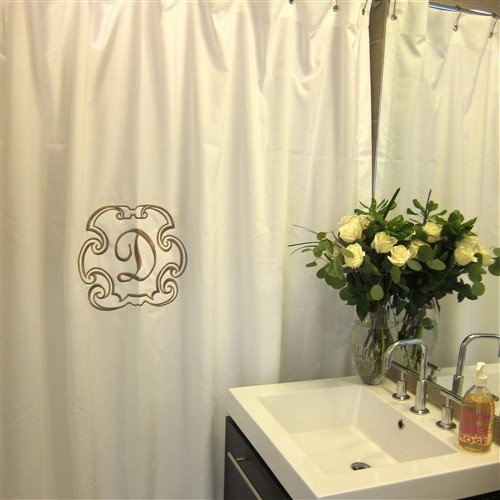 Deluxe Monogrammed Shower Curtain Traditional Shower Curtains By Luxury Monograms