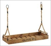 Olive Oil Crate Candleholder