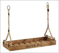 Olive Oil Crate Candleholder - Contemporary ...