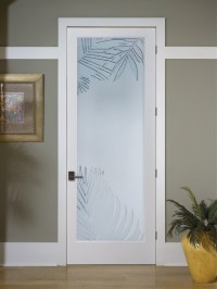 Mazatlan Decorative Glass Interior Door - Tropical - Hall ...