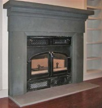 New York Blue Stone, custom milled Fireplace - Traditional ...