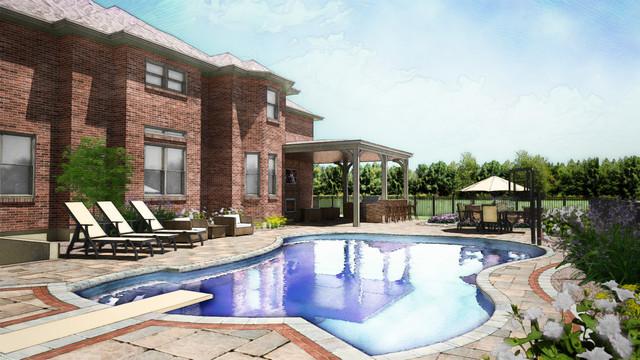 Custom Swimming Pool in Mason Ohio  Pool Design