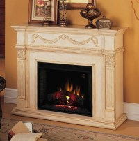 Gossamer Electric Fireplace in Antique Ivory - Traditional ...