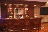 Custom Basement Pub Bar
