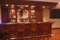 Custom Basement Pub Bar - Transitional - Basement ...