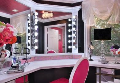 Pink Bedroom Home Design Photos Houzz