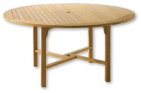 """Teak Classic 60"""" Round Table - Traditional - Outdoor ..."""