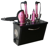 Curling Iron, Blow Dryer, and Flat Iron Holder - Wall ...