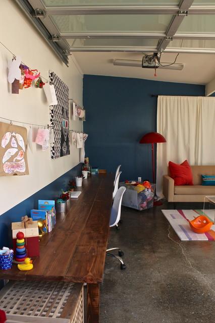 Garage Conversion into Playroom  Contemporary  Garage