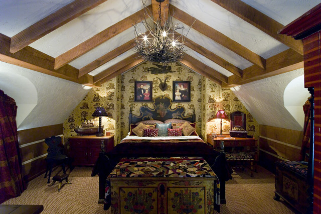 Guest Cottage rustic bedroom