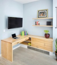Custom Built-in Desk - Modern - Home Office - new york ...