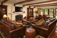 Spanish Revival Restoration - Mediterranean - Living Room ...