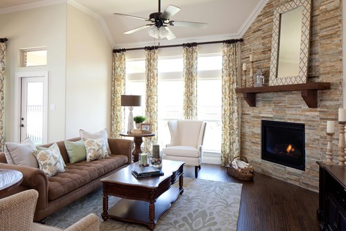 small living room with fireplace furniture placement brown and off white ideas design dilemma arranging around a corner k houvanian homes via houzz arrangement