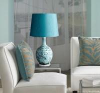 Jordan Teal Ceramic Table Lamp - Contemporary - Living ...