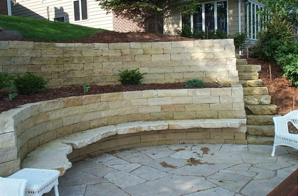 boulder sea wall deck & limestone