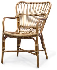 Retro Rattan Dining Armchair - Tropical - Dining Chairs ...