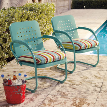 Retro Outdoor Furniture Collection  Eclectic  Patio Furniture And Outdoor Furniture  by