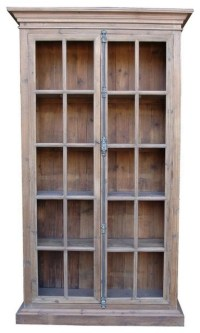 French Country Reclaimed Library Cabinet Vitrine ...