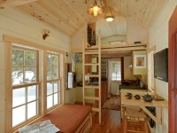 Tiny House rustic-living-room