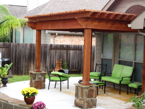 chair covers and more houston stressless creaking pergolas patio - contemporary landscape by bushmaster inc