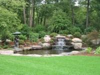 Backyard Waterfall - Traditional - Landscape - boston - by ...