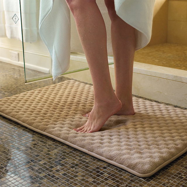 Indulgence Memory Foam Bath Rug  Traditional  Bath Mats